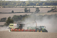 Harvesting wheat in Rutland<br /> ©Tim Scrivener Photographer 07850 303986<br />      ....Covering Agriculture In The UK....