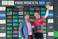 Picture by Allan McKenzie/SWpix.com - 17/05/2018 - Cycling - OVO Energy Tour Series Mens Race Round 3:Aberdeen - Robert Scott takes the Eisberg Sprints leaders jersey.