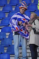 VOETBAL: HEERENVEEN: Abe Lenstra Stadion 29-10-2015, SC Heerenveen, SC Heerenveen - Helmond Sport, uitslag 1-0, Henk Veerman scoorde en kreeg aan het einde van de wedstrijd een rode kaart, Heerenveen- supporter, ©foto Martin de Jong