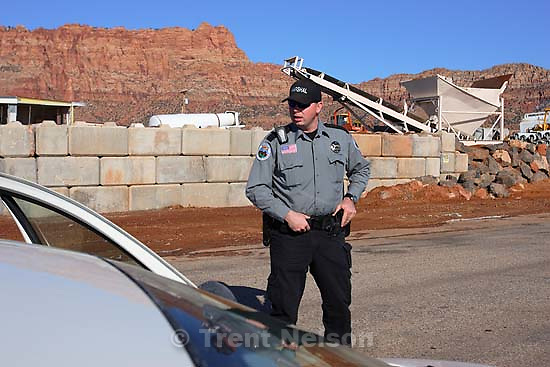 Hildale - Preston Barlow, an FLDS member and Deputy Marshal with the Hildale/Colorado City Town Marshals. for FLDS Hildale/Colorado City Town Marshal story; 12.20.2006<br />