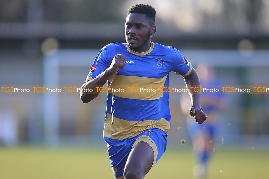 Chinedu McKenzie of Romford during Romford vs Cheshunt, Ryman League Division 1 North Football at Ship Lane on 28th January 2017