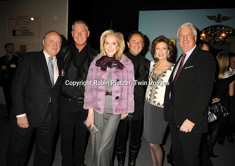 Mario Buatta, Randy Kemper, Stephanie Krieger, Tony Ingrao, Margo Langenberg and Brian Stewart..at The 55th Annual Winter Antiques Show opening night on January 22, 2009 at The Park Avenue Armory at 67th Street and Park Avenue in New York City. ....Robin Platzer, Twin Images