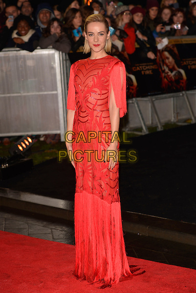 LONDON, ENGLAND - NOVEMBER 11: Jena Malone attend the UK premiere of 'The Hunger Games: Catching Fire' at Odeon Leicester Square on November 11, 2013 in London, England<br /> CAP/PL<br /> &copy;Phil Loftus/Capital Pictures