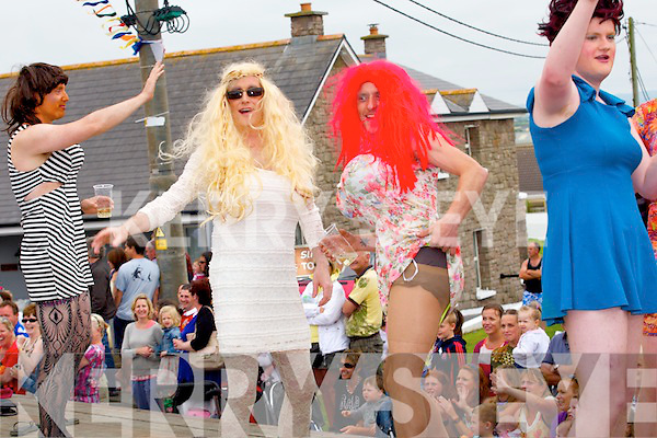 PARADE: Many of the floates and people who took part in the Ballyheigue Summer Festival Summer Parade on Sunday.