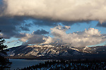 """""""Cloud Cover""""  Heavenly Ski Resort South Lake Tahoe, California.  I captured this view of Heavenly Ski Resort during the Winter in January 2013.  The clouds were enormous and kept changing every 10 minutes.  I think I have 32GB of photos and video of this scene. South Lake Tahoe is one beautiful places to visit no matter what time of the year."""