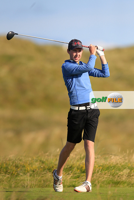 John Conroy (Bray) on the 2nd tee during Matchplay Round 3 of the South of Ireland Amateur Open Championship at LaHinch Golf Club on Saturday 25th July 2015.<br /> Picture:  Golffile | TJ Caffrey