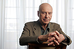 BEVERLY HILLS,CA - MAY 29,2008: Alan Arkin, who plays the Chief of Control in the new Get Smart movie. Photographed at the Four Seasons Hotel in Beverly Hills May 31, 2008.