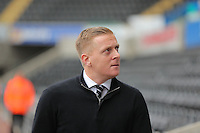 Swansea manager Garry Monk before the Barclays Premier League match between Swansea City and Leicester City at the Liberty Stadium, Swansea on December 05 2015