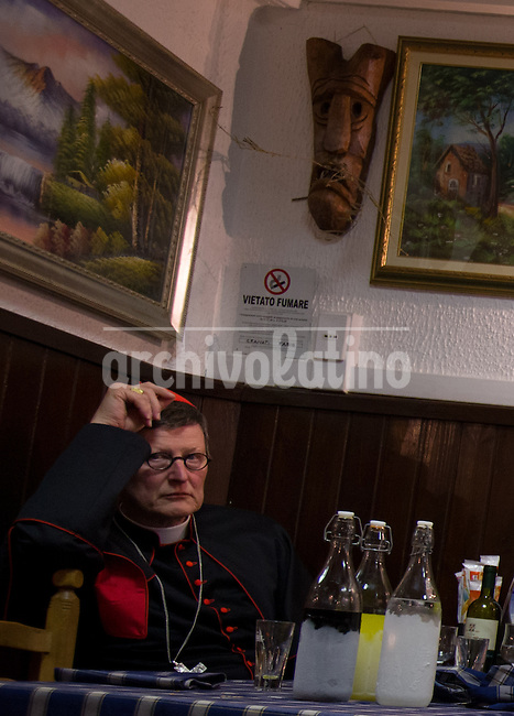 Vatican City, Rome, Italy, 6 feb 2013. Rainer Maria Woelki (born 18 August 1956) is a German Cardinal of the Catholic Church. Appointed by Pope Benedict XVI, he has been the Archbishop of Berlin since 2 July 2011.Cardinals during the Vespers mass.