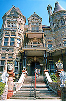 Galveston:  Gresham's  Castle, Broadway Facade--entrance.  Photo '96.