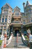 Galveston:  Gresham's  Castle, Broadway Facade--entrance.  Photo '96.