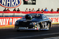 Sept. 2, 2011; Claremont, IN, USA: NHRA pro stock driver Erica Enders during qualifying for the US Nationals at Lucas Oil Raceway. Mandatory Credit: Mark J. Rebilas-
