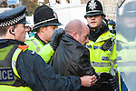 © Joel Goodman - 07973 332324 - all rights reserved . 31/10/2009 . Leeds , UK . The EDL ( English Defence League ) hold a demonstration in Leeds City Centre , opposed by various anti-fascist groups including Unite Against Fascism . Photo credit : Joel Goodman