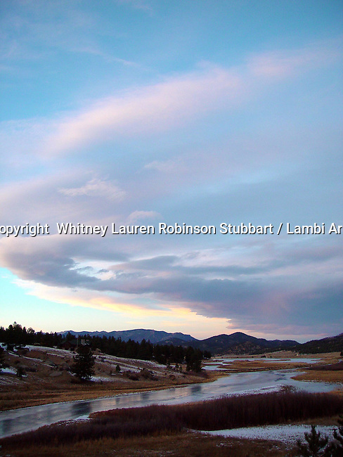 Breathtaking Scenic Photography Colorado<br /> <br /> Sunset, mountains, pine trees, moon, river, fields,