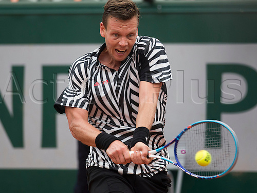 01.06.2016. Roland Garros, Paris, France. French Open tennis tournament, quarter-final match, Berdych versus Ferrer of Spain. Berdych won the match in 3 sets to move through to the semi-final