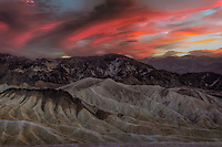 Zabriskie Point offers spectacular views of the colorful eroded badlands of Death Valley National Park.