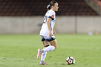 Houston, TX - Saturday July 08, 2017: Hayley Raso brings the ball up the field during a regular season National Women's Soccer League (NWSL) match between the Houston Dash and the Portland Thorns FC at BBVA Compass Stadium.