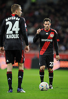 FUSSBALL   1. BUNDESLIGA   SAISON 2011/2012    15. SPIELTAG Bayer 04 Leverkusen - 1899 Hoffenheim                  02.12.2011 Michal Kadlec (li) und Gonzalo Castro (re, beide Bayer 04 Leverkusen)