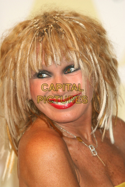 BETSEY JOHNSON.2005 CFDA Fashion Awards - Inside Arrivals.New York Public Library in New York City, New York, USA, June 6th 2005 .portrait headshot fringe wig? hair extensions.Ref: IW.www.capitalpictures.com.sales@capitalpictures.com.©Ian Wilson/Capital Pictures.