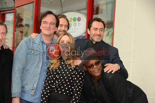 Quentin Tarantino, Jennifer Jason Leigh, Demian Bichir, Samuel L. Jackson<br />