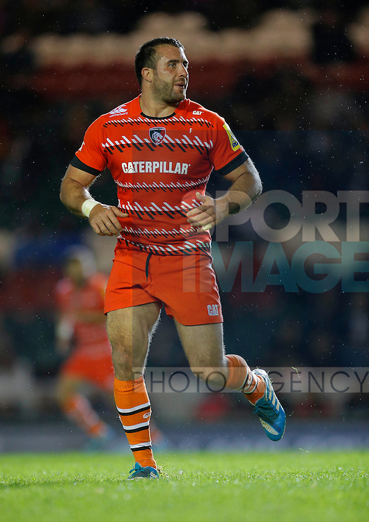 Robert Barbieri in action for Leicester Tigers - Rugby Union - Leicester Tigers vs Cardiff Blues - pre-season friendly - Welford Road Leicester - 29th August 2014 - Picture - Malcolm Couzens/Sportimage