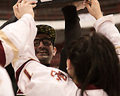 Richy Schwalm, Kristyn Capizzano (BC - 7) - The Boston College Eagles defeated the Northeastern University Huskies 2-1 to win the Beanpot on Monday, February 7, 2017, at Matthews Arena in Boston, Massachusetts.