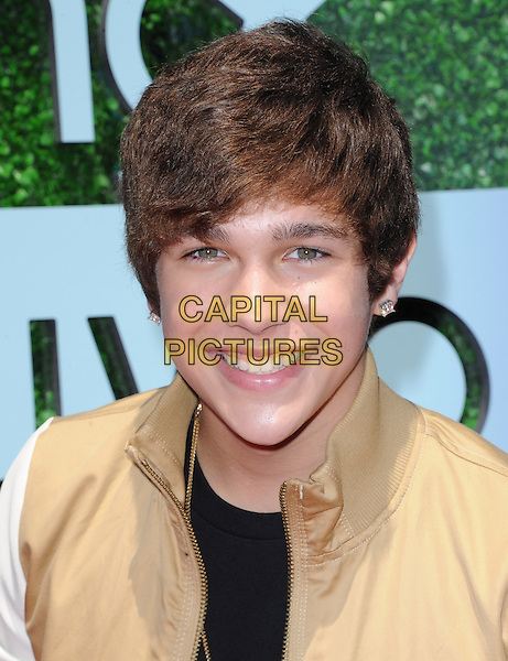 Austin Mahone<br /> at The 2013 Young Hollywood Awards at The Broad Stage in Santa Monica, California, USA, August 1st, 2013.<br /> portrait headshot smiling beige                                              <br /> CAP/DVS<br /> &copy;Debbie VanStory/Capital Pictures