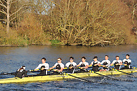 162 .MBC-Thorpe .IM1.8+ .Molesey BC. Wallingford Head of the River. Sunday 27 November 2011. 4250 metres upstream on the Thames from Moulsford railway bridge to Oxford University's Fleming Boathouse in Wallingford. Event run by Wallingford Rowing Club.