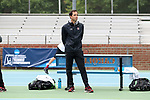 CHAPEL HILL, NC - MAY 12: South Carolina head coach Josh Goffi. The University of South Carolina Gamecocks played the East Tennessee State University Buccaneers on May 12, 2017, at The Cone-Kenfield Tennis Center in Chapel Hill, NC in an NCAA Division I Men's College Tennis Tournament first round match. South Carolina won 5-0.