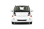 Car photography straight front view of a 2014 Mitsubishi i MIEV 5 Door Hatchback