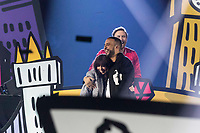 David Guetta, Charlie XCX and French Montana perform during the show of the 2017 MTV Europe Music Awards, EMAs, at SSE Arena, Wembley, in London, Great Britain, on 12 November 2017. Photo: Hubert Boesl <br />