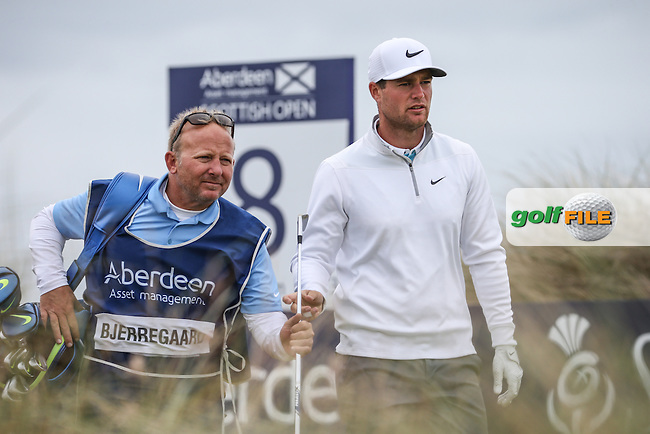 Lucas Bjerregaard (DEN) during Round Three of the 2016 Aberdeen Asset Management Scottish Open, played at Castle Stuart Golf Club, Inverness, Scotland. 09/07/2016. Picture: David Lloyd | Golffile.<br /> <br /> All photos usage must carry mandatory copyright credit (&copy; Golffile | David Lloyd)
