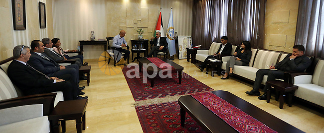 "Palestinian Prime Minister Mohammad Ishtayeh Meets with a delegation of ""karama"" campaign and praises their efforts, in the West Bank city of Ramallah, on September 18, 2019. Photo by Prime Minister Office"