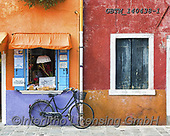 Tom Mackie, LANDSCAPES, LANDSCHAFTEN, PAISAJES, photos,+Colourful Shop & Bike, Burano, Venice, Italy,Burano, EU, Europa, Europe, Italia, Italian, Italy, Venetian, Venezia, Venice, b+icycle, bike, blue, color, colorful, colour, colourful, holiday destination, horizontal, horizontals, orange, purple, red, sh+utter, shutters, tourism, tourist attraction, travel, window, windows++,GBTM140438-1,#l#, EVERYDAY