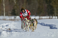 Michi Konno, day three of the oldest continuously run sled dog race in the world, the 2003 Open North American Sled dog championships, Fairbanks, Alaska. The annual race consists of three daily races, the combined fastest time wins.