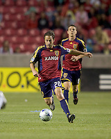 Real Salt Lake midfielder Ned Grabavoy (20). Real Salt Lake tied the Colorado Rockies, 1-1, at Rio Tinto Stadium on June 6, 2009.