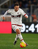 Calcio, Serie A: Roma vs Milan. Roma, stadio Olimpico, 9 gennaio 2016.<br /> AC Milan's Andrea Bertolacci in action during the Italian Serie A football match between Roma and Milan at Rome's Olympic stadium, 9 January 2016.<br /> UPDATE IMAGES PRESS/Riccardo De Luca