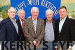Old friends cathching up at the Killarney Athletic 50th anniversary celebrations in the Dromhall Hotel on Saturday night Dan harrington, Pat doody, Sean O'donoghue, Joe Grant and Donnagh Gleeson