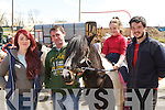 Cliona O'Shea Killorglin, Tom Bradley Ballymac, Amy Clifford Killorglin and Jason Rogers Clahane at the Milltown horse fair on Sunday