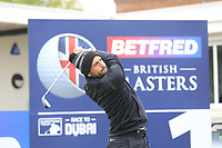 Alexander Levy (FRA) during the Hero Pro-am at the Betfred British Masters, Hillside Golf Club, Lancashire, England. 08/05/2019.<br /> Picture Fran Caffrey / Golffile.ie<br /> <br /> All photo usage must carry mandatory copyright credit (© Golffile | Fran Caffrey)