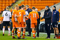 Blackpool's manager Danny Ventre gives instructions to his team during a break in play<br /> <br /> Photographer Alex Dodd/CameraSport<br /> <br /> The FA Youth Cup Third Round - Blackpool U18 v Derby County U18 - Tuesday 4th December 2018 - Bloomfield Road - Blackpool<br />  <br /> World Copyright &copy; 2018 CameraSport. All rights reserved. 43 Linden Ave. Countesthorpe. Leicester. England. LE8 5PG - Tel: +44 (0) 116 277 4147 - admin@camerasport.com - www.camerasport.com