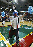 12 December 2009: The Blue Heads were in attendance to support the Gonzaga Bulldogs against Davidson. Gonzaga won 103-91 over Davidson in the 2009 Comcast Battle game held at Key Arena in Seattle, WA.