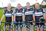 CYCLE; Taking part in the Kerry Emergency Services Charity Cycle at the Strand Road clubhouse, Tralee on Saturday l-r: Christy Reid, P.J. Deleaney, Jason O'Mahony and Paul O'Toole.