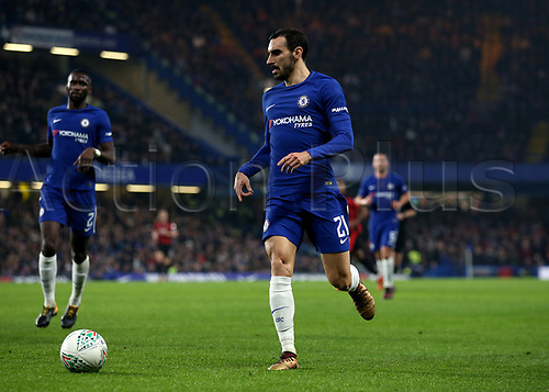 20th December 2017, Stamford Bridge, London, England; Carabao Cup quarter final, Chelsea versus Bournemouth; Davide Zappacosta of Chelsea in action