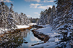 Winter at Carrying Place on the Skillings River, Hancock County, ME, USA