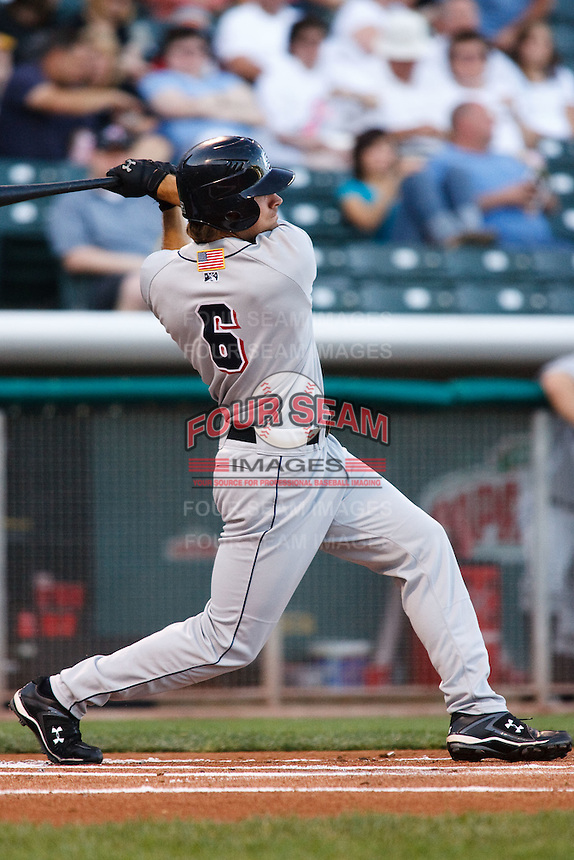 July 8, 2009: Matt Miller of the Colorado Springs Sky Sox, Pacific Cost League Triple A affiliate of the Colorado Rockies, during a game at the Spring Mobile Ballpark in Salt Lake City, UT.  Photo by:  Matthew Sauk/Four Seam Images