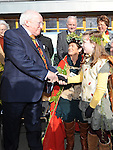 President of Ireland Michael D Higgins pictured with Laoise McCoy at the launch of National Tree week in Ardee. Photo: Colin Bell/pressphotos.ie