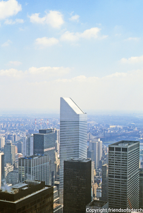 New York: Citicorp Center--view from RCA Building.
