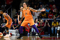 Washington, DC - July 30, 2019: Phoenix Mercury center Brittney Griner (42) plays defense during first half action of game between the Phoenix Mercury and Washington Mystics at the Entertainment & Sports Arena in Washington, DC. (Photo by Phil Peters/Media Images International)