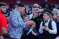 Tyson Fury with fans during at Boxing Show at Stevenage Football Club on 18th May 2019